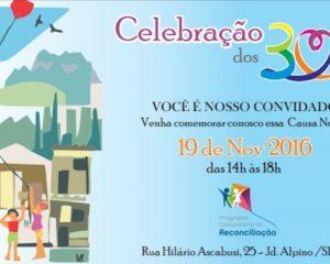 Programa Comunitário da Reconciliação celebra 30 anos de atuação