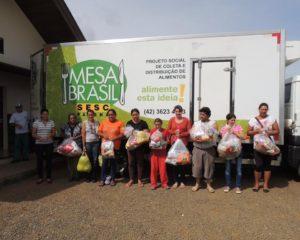 Famílias do Projeção são beneficiadas por programa alimentar e nutricional
