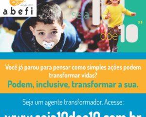 Campanha seja 10 doe 10 incentiva doações via internet