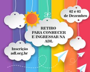 ADL abre inscrições para retiro de convivência em Serra Pelada (ES)