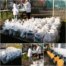 Precisamos da sua ajuda para completar os 40% que faltam para a meta de 250 cestas básicas